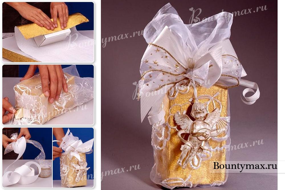 Как красиво упаковать подарок своими руками в пленку 63