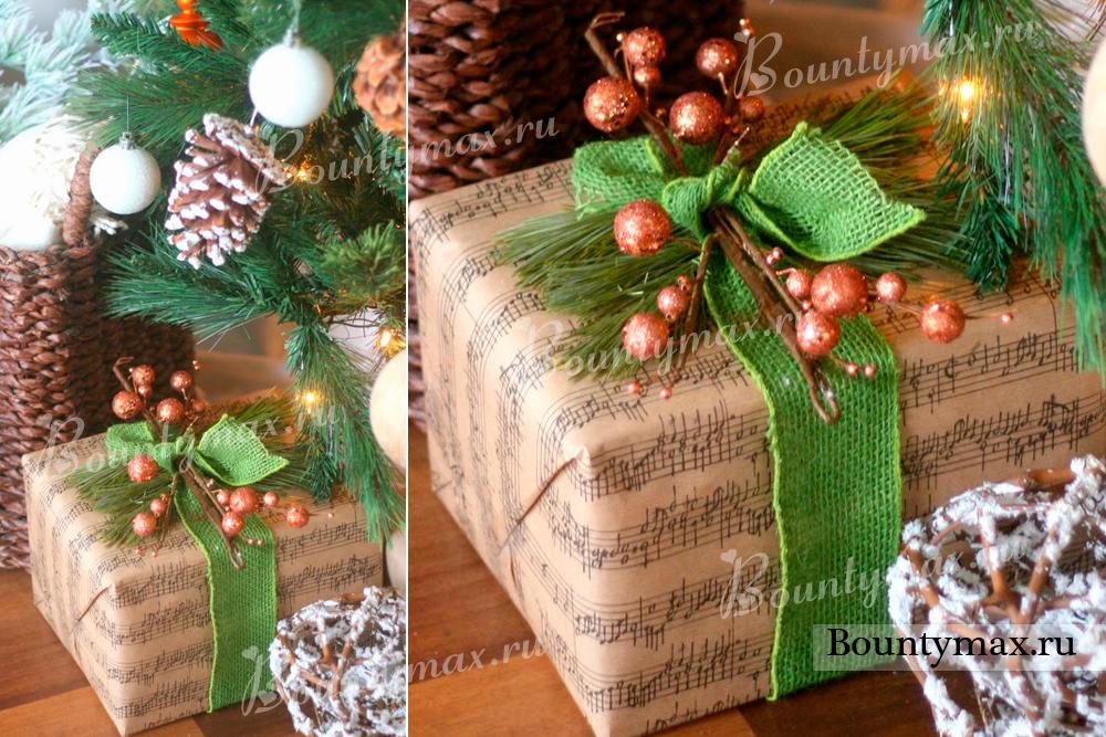 Как упаковать новогодний подарок своими руками для детей