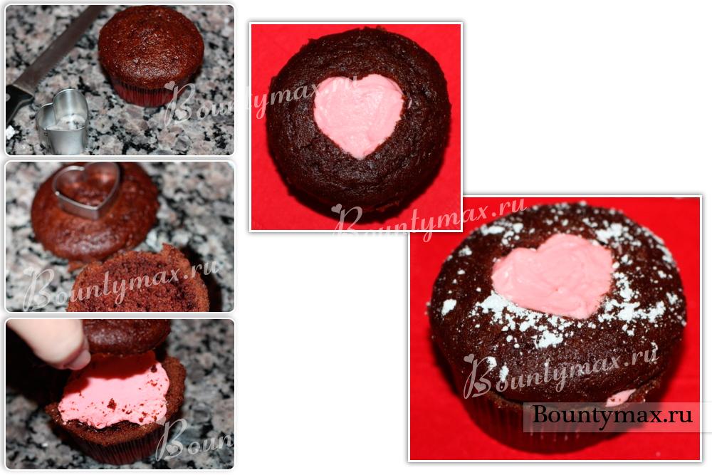 Торт в виде сердца рецепт без формы