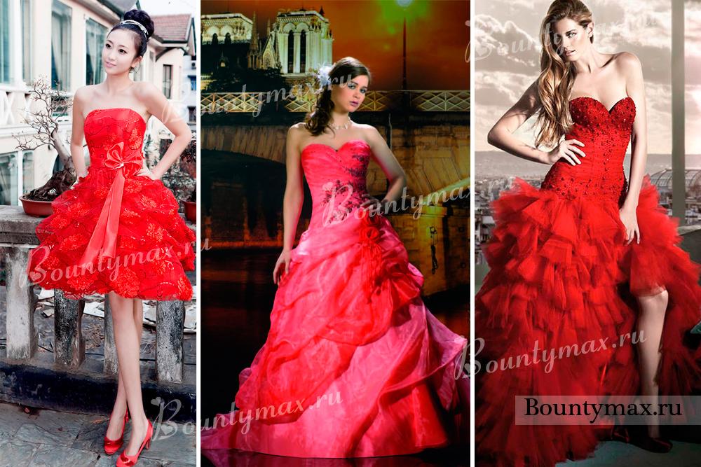 Красно черное платье для свадьбы