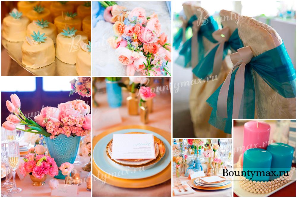 Розовый и бирюзовый: свадьба Евгения и Ксении в нежных тонах 83