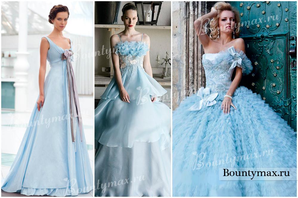 Купить В Москве Голубое Свадебное Платье