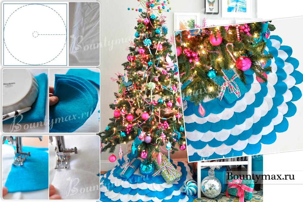 Юбка для новогодней елки своими руками