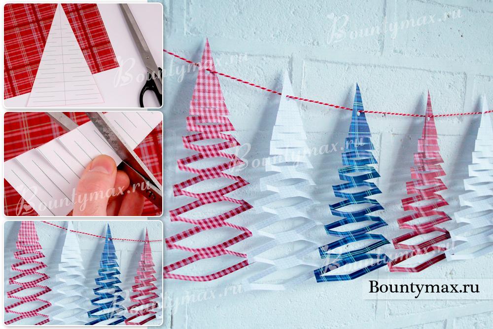 Как сделать красивую новогоднюю гирлянду фото 520