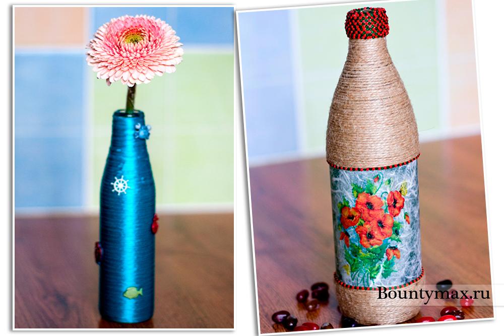 Как украсить пластиковую бутылку фото своими руками 67