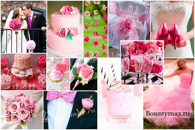 Свадьба в голубом и розовом цвете