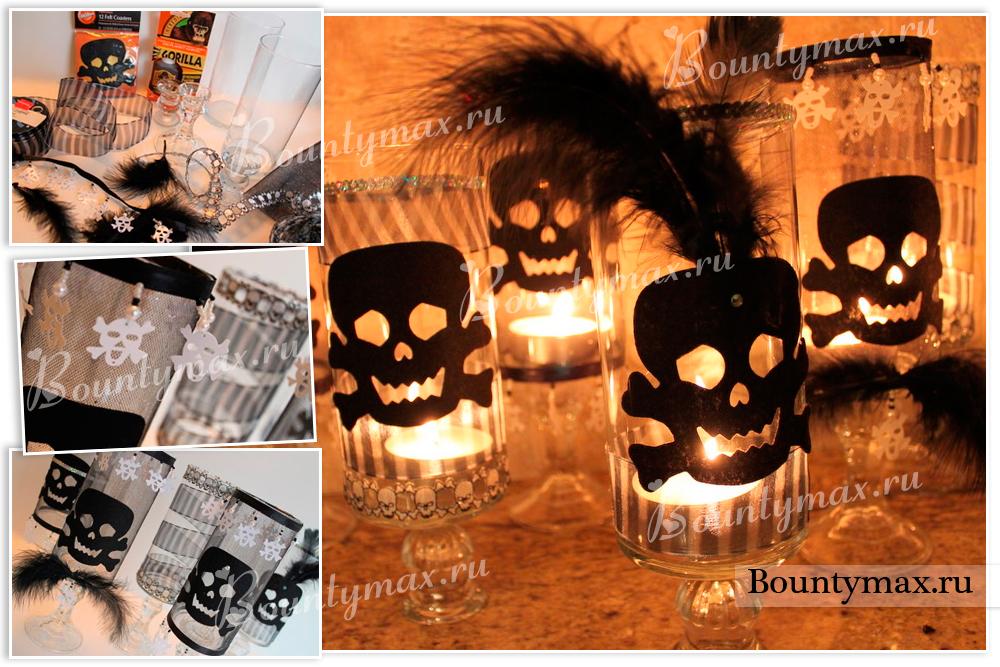 Свечки в стаканах своими руками