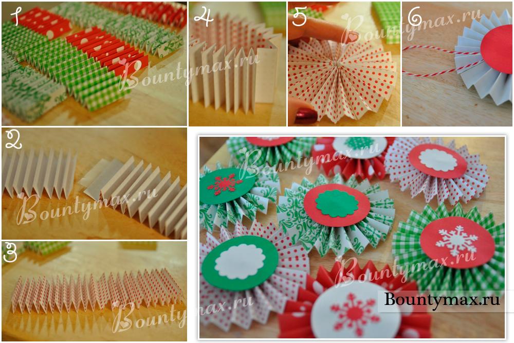Как сделать елочную игрушку своими руками из бумаги