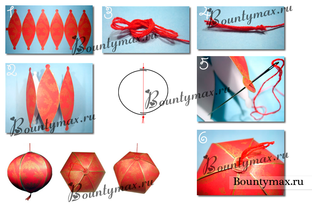 Китайские фонарики своими руками из бумаги поэтапно
