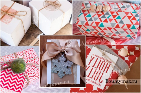 Упаковка подарков своими руками из обоев 14