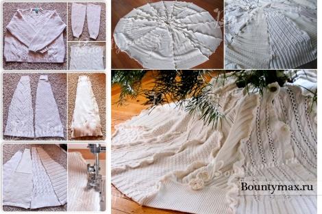 Юбка под елку: как сделать/сшить юбку для елки своими руками
