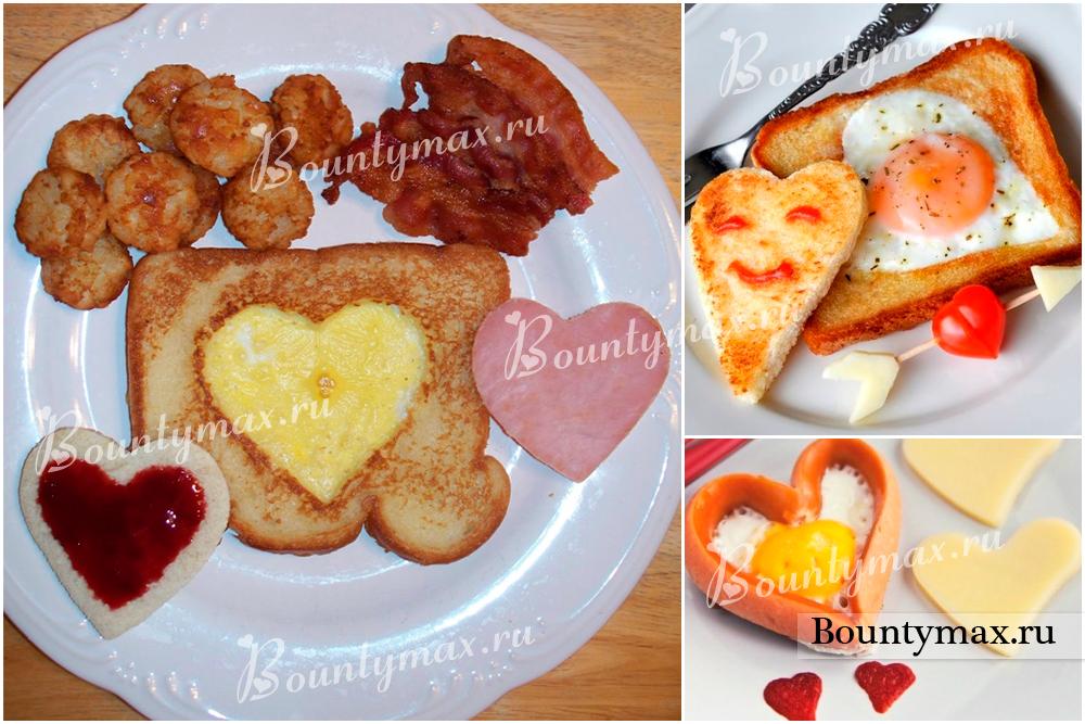 Оригинальный завтрак для любимой