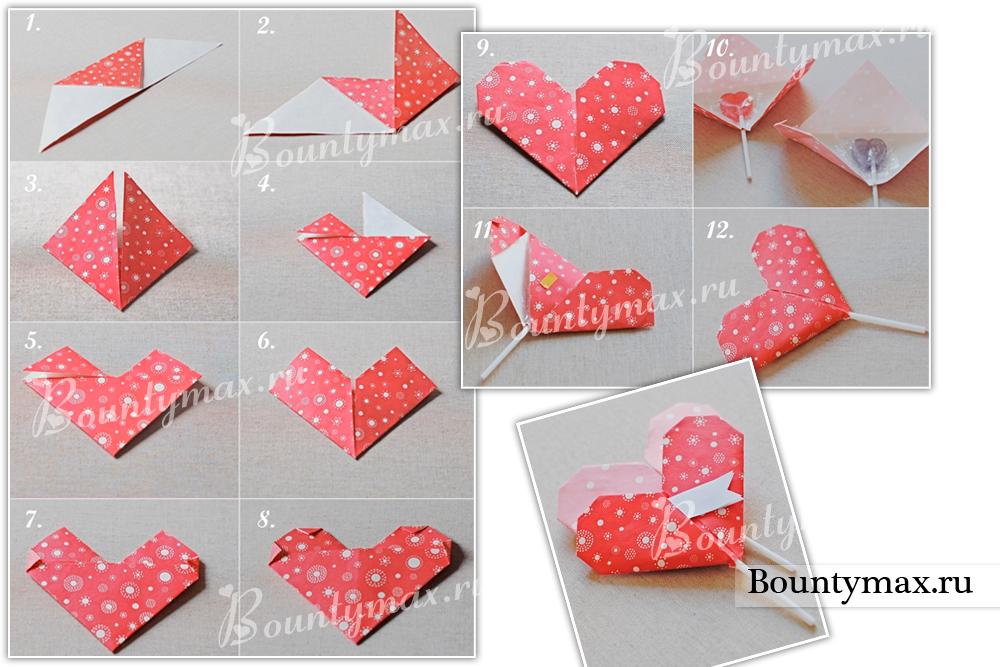 Как сделать красивую поделку из бумаги сердечко 52