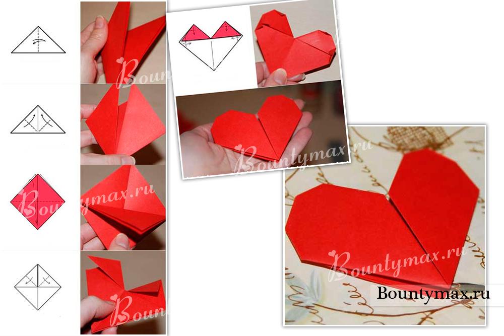 Конверты из сердца своими руками из бумаги