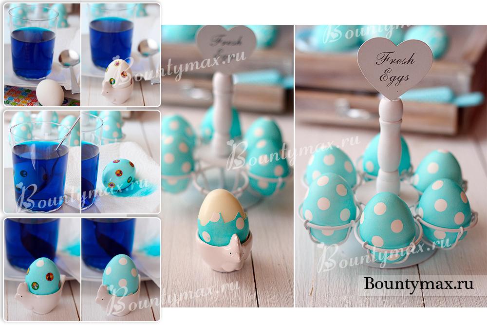 Как красиво покрасить яйца на пасху фото