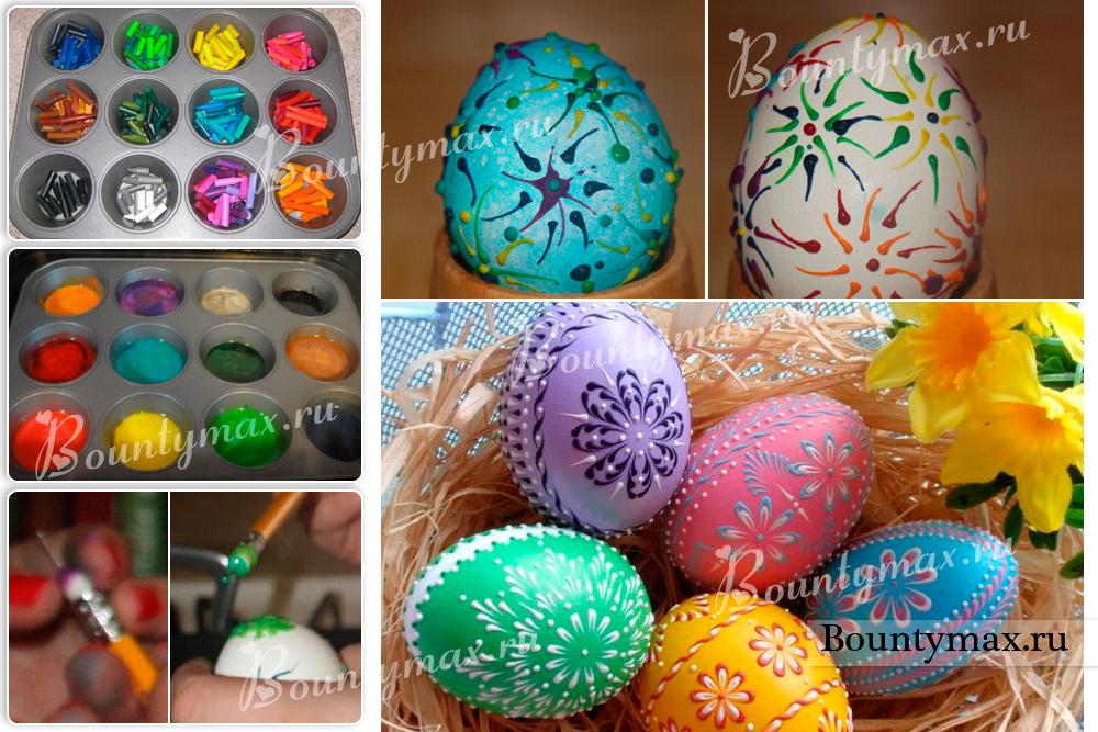 Как и чем раскрасить яйца на пасху своими руками