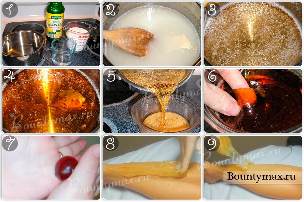 Как в домашних условиях приготовить пасту для шугаринга
