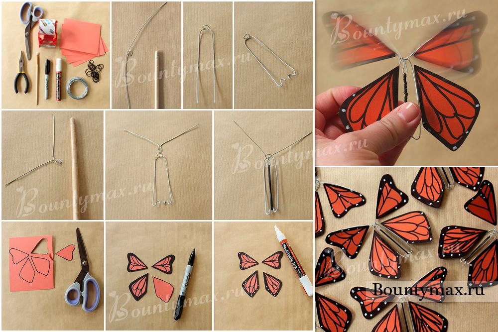 Бабочки своими руками из бумаги красивые мастер класс 2