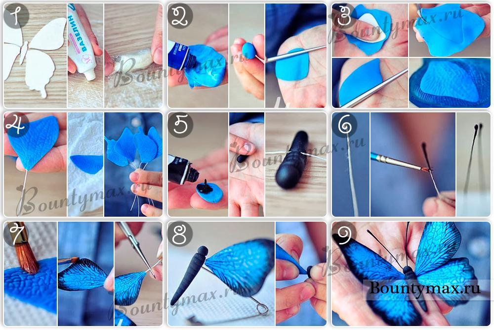 Как сделать маленькую бабочку своими руками