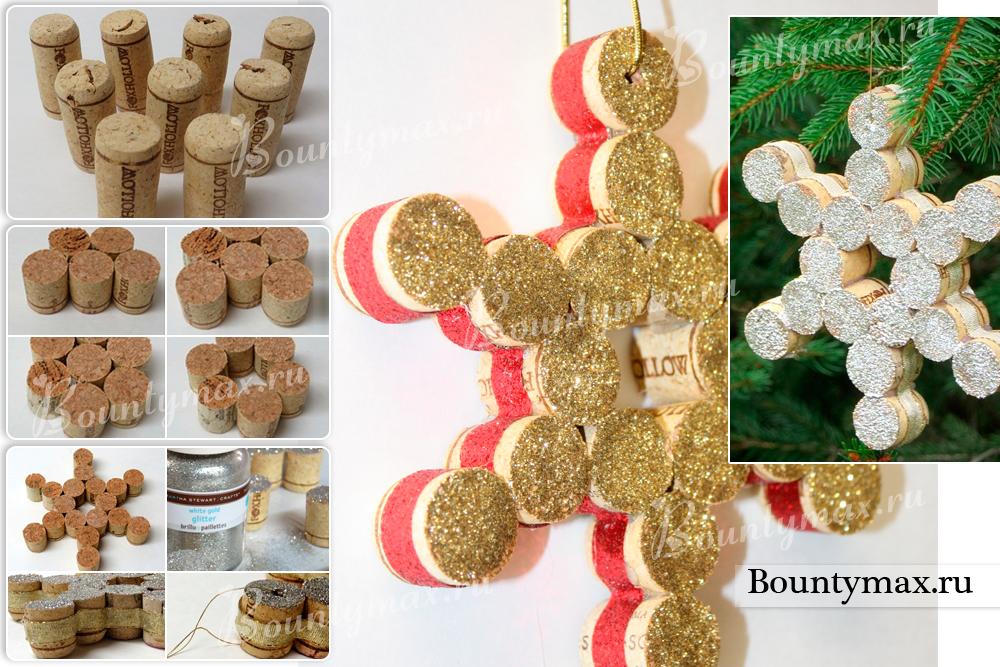 Как сделать ёлочные игрушки из подручных материалов