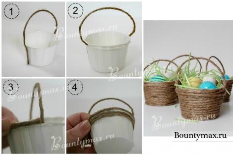 Как сделать пасхальную корзину своими руками