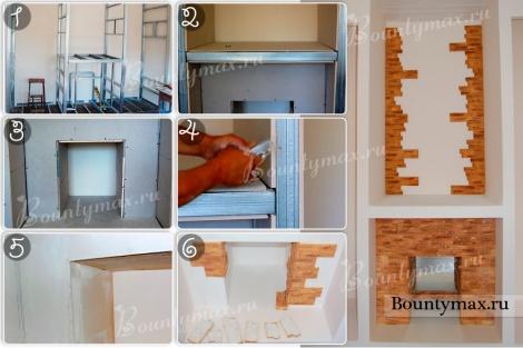 Как сделать декоративный фальш камин своими руками фото
