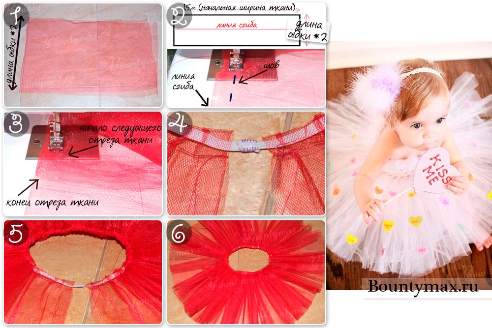 Как сшить юбку пачку из сетки фото