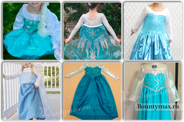 Платье эльзы девочке своими руками