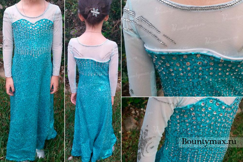 Платье эльзы из холодного сердца сшить своими фото 532