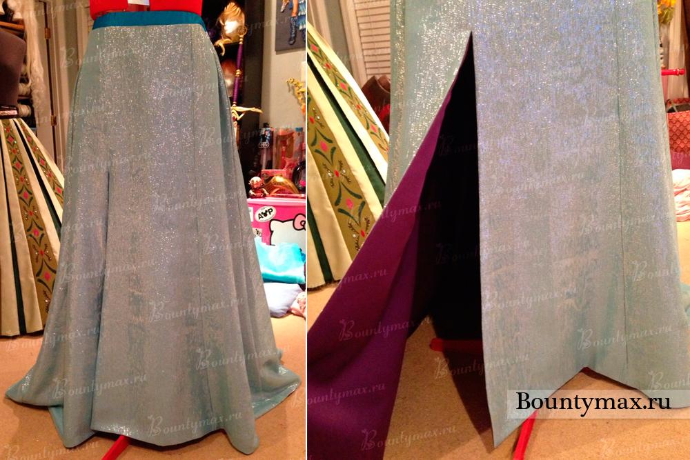 Как сшить юбку из фатина с подкладкой на резинке 2