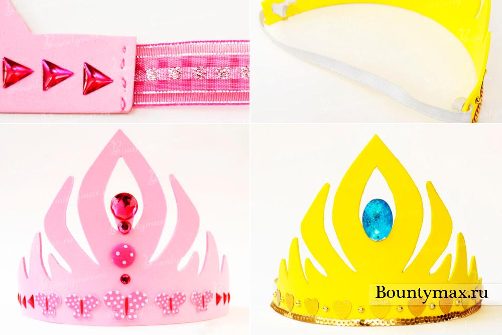 Как сделать ободок для короны из бумаги