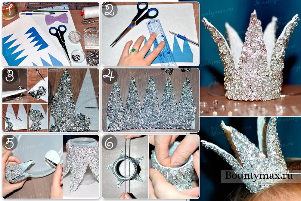 Как сделать корону снежной королевы