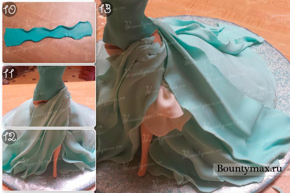Как сделать платье для куклы эльзы 12