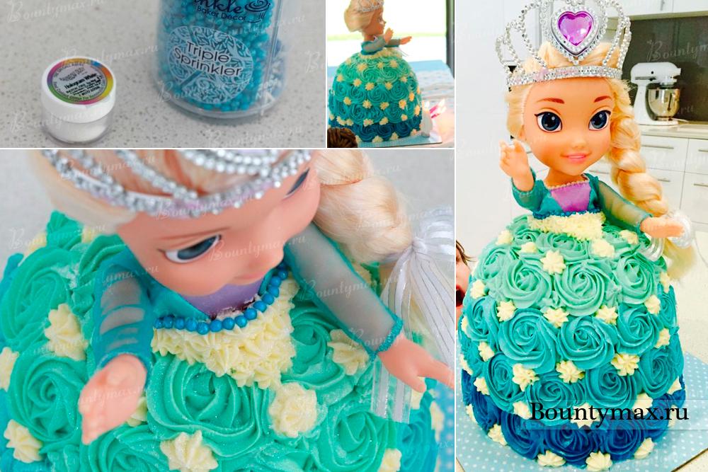 Торт кукла своими рукам