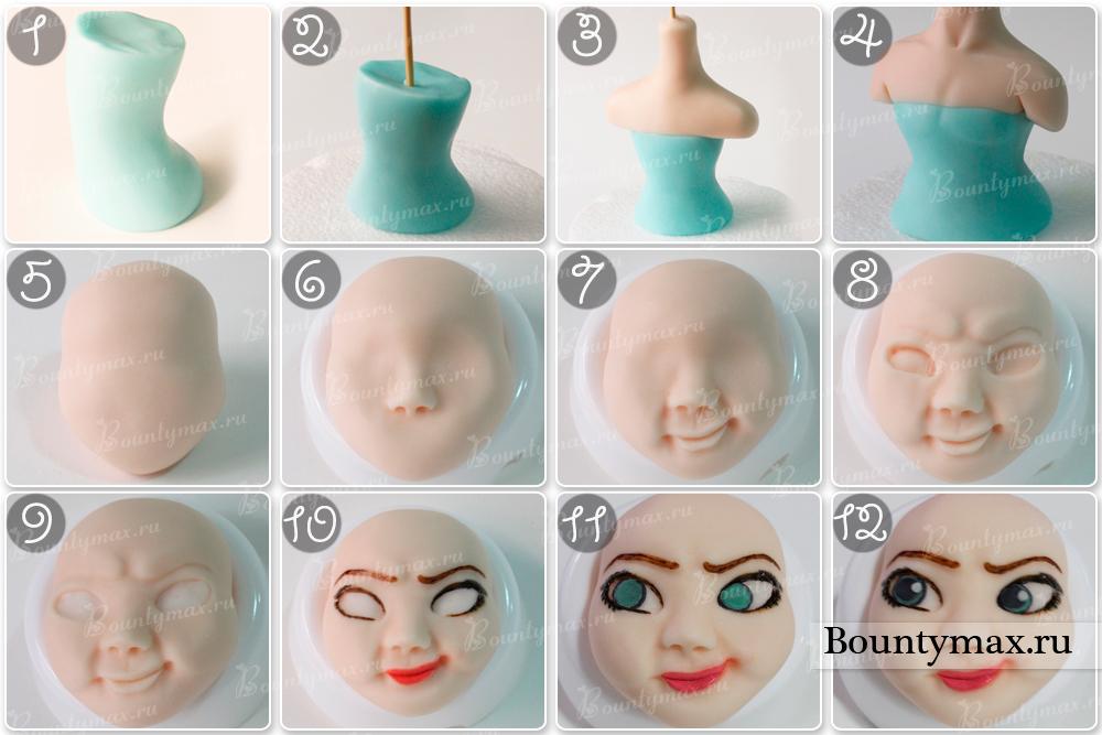 Как сделать торт куклу Эльзу или Анну из холодного сердца 52