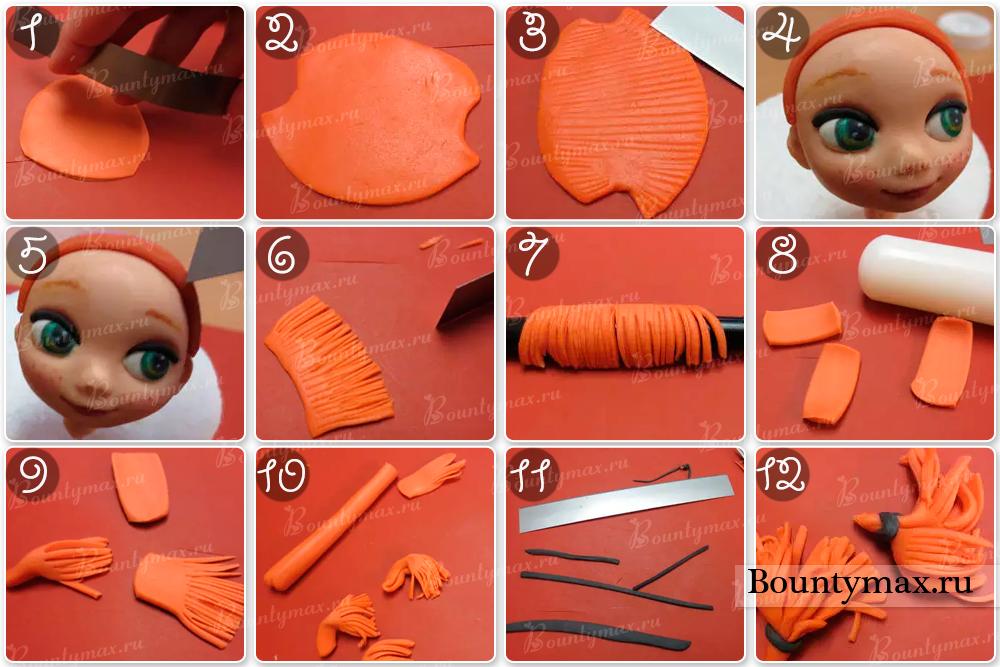 Как сделать из мастики рисунки
