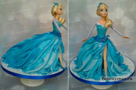 Как сделать торт куклу Эльзу или Анну из холодного сердца своими руками