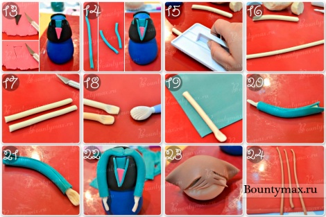 Как из мастики сделать фигурки на торт 214