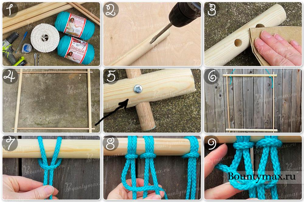 Как сделать гамак для куклы своими руками 989