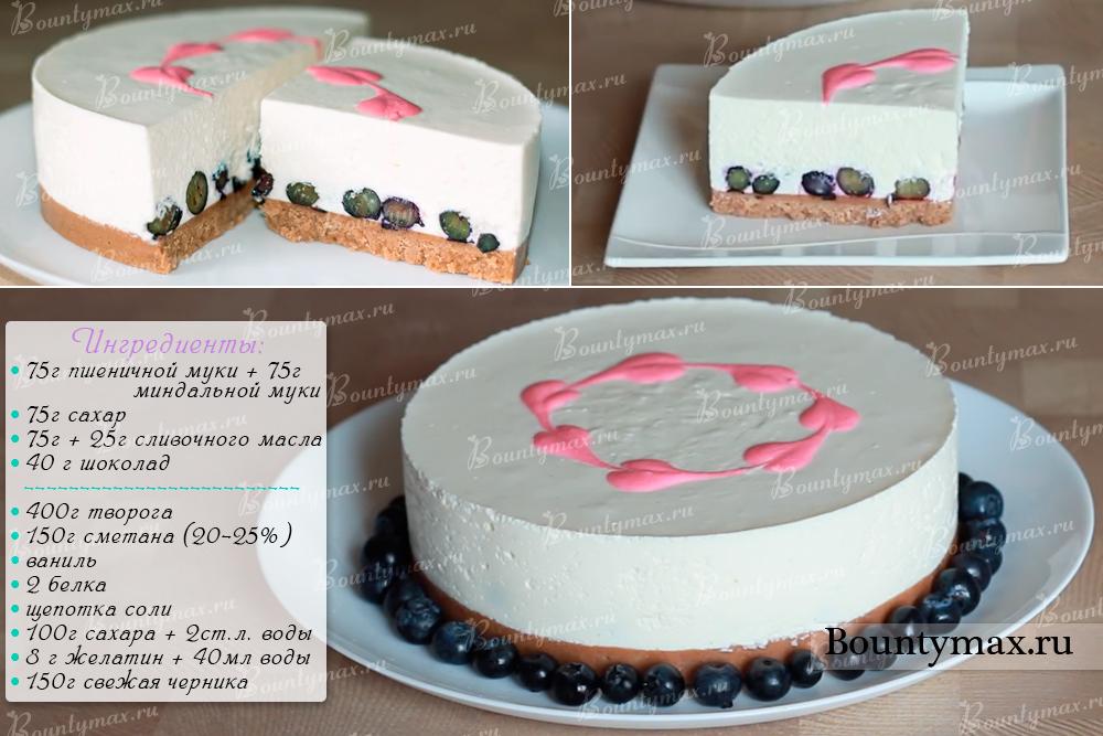 Творожный торт без выпечки с агар агаром