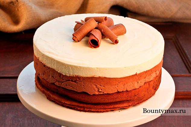 Трёхслойный шоколадный торт-мусс