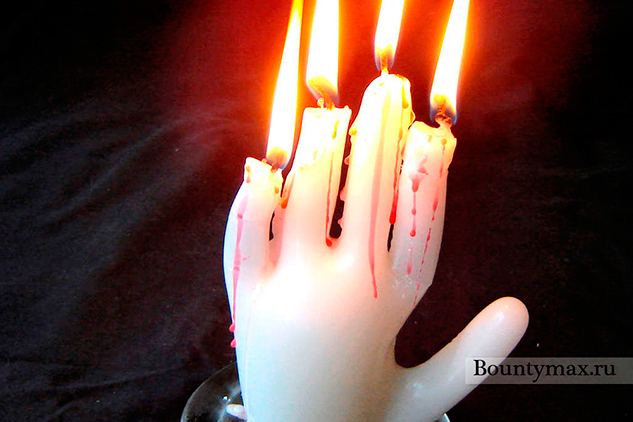 Свеча своими руками в форме руки