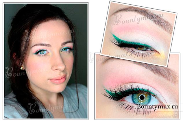 Нежный повседневный макияж для голубых глаз