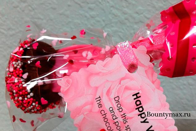 Шоколадные конфеты - валентинки своими руками