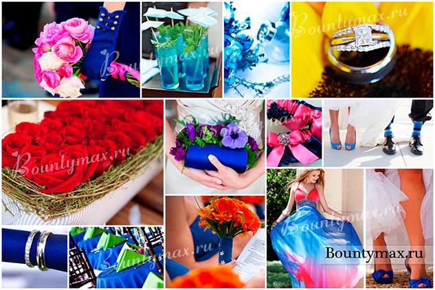 Cвадьба в синем цвете - возможности комбинирования