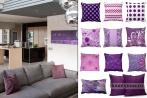 Интерьер гостиной в фиолетовых тонах