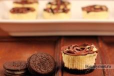 Ванильные сырники с шоколадным печеньем