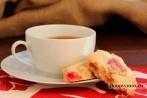 Малиновое крем печенье