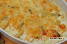 Картофель со сливками запеченный в духовке