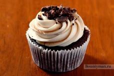 Шоколадные кексы с сырным кремом и ликером Калуа